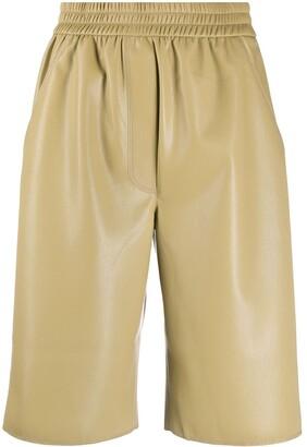 Nanushka faux-leather shorts
