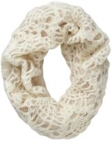 Juicy Couture Spun by Subtle Luxury Infinity 2 Tone Lace Crochet Scarf