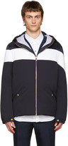 Moncler Gamme Bleu Blue and White Down Jacket
