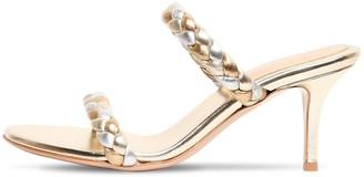 Gianvito Rossi 70mm Metallic Leather Sandals