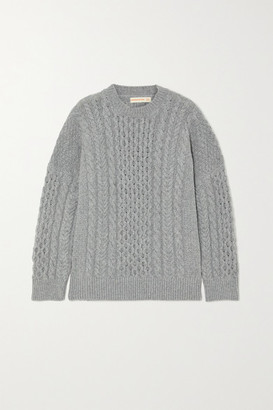 &Daughter + Net Sustain Ina Cable-knit Geelong Wool Sweater - Gray