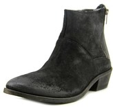 Hudson Fop Women Round Toe Leather Black Bootie.