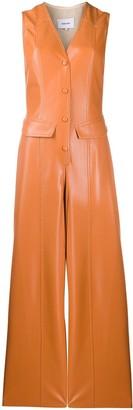 Nanushka Faux Leather Sleeveless Jumpsuit