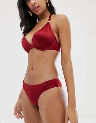 Dorina Jamaica shiny bikini bottom in red