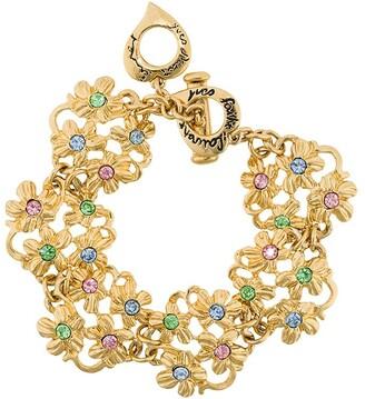 Yves Saint Laurent Pre Owned Floral Charm Bracelet
