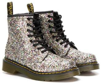 Dr. Martens Kids Chunky Glitter lace-up boots