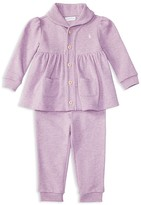 Ralph Lauren Infant Girls' French Terry Top & Pants Set - Sizes 3-24 Months