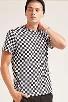 21men 21 MEN Checkered Print Tee
