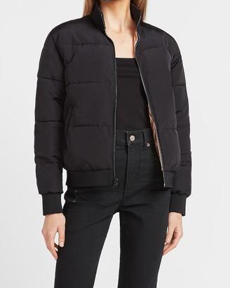 Express Black & Metallic Reversible Puffer Jacket