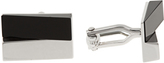 Lanvin Onyx and rhodium-plated cufflinks