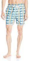 Kanu Surf Men's Byron Plaid Swim Trunks