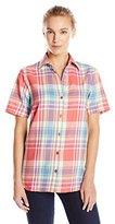 Dickies Women's Short Sleeve Plaid Shirt