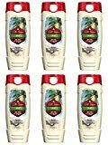 Old Spice Fresher Collection Men's Body Wash, Fiji, 16 Fluid Ounce (Pack of 6)