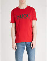 HUGO Logo-print cotton-jersey T-shirt