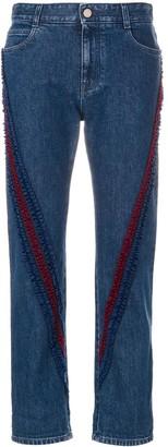 Stella McCartney ruffle-trimmed Boyfriend jeans