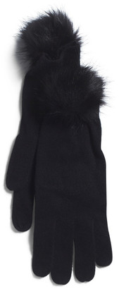 Racelia Gloves With Faux Fur Accent