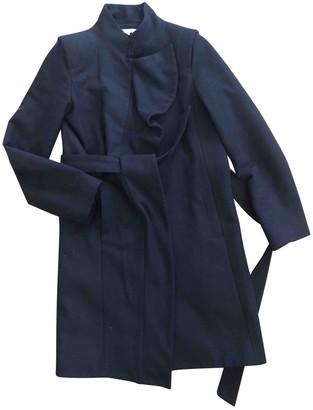 Les Petites Navy Wool Coat for Women