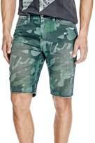 GUESS Men's Slim Raw Edge Shorts