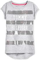 Tommy Hilfiger Sequin Stripe T-Shirt, Big Girls (7-16)