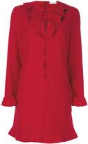 RED Valentino frill collar dress - women - Polyester/Spandex/Elastane/Viscose - 40