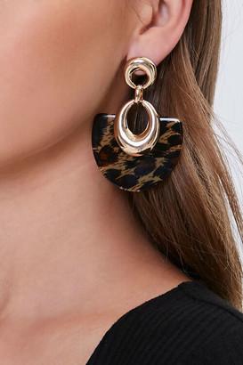 Forever 21 Leopard Print Drop Earrings