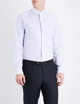 Canali Striped regular-fit cotton shirt