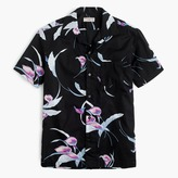 J.Crew Wallace & Barnes short-sleeve camp-collar shirt in feather print