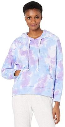 FP Movement Tie-Dye Work It Out Hoodie (Purple Tie-Dye) Women's Clothing