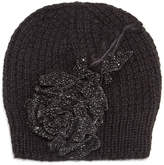 Jennifer Behr Crystal Rose Knit Beanie Hat