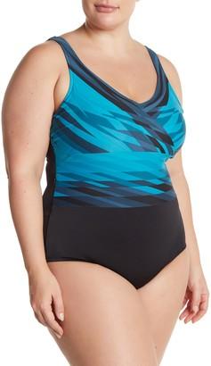 Active Spirit Saltwater Stripe One-Piece Swimsuit