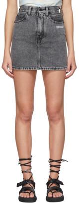 Off-White Grey Denim Miniskirt
