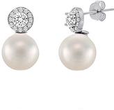 Bliss Pearl & Cubic Zirconia Halo Stud Earrings