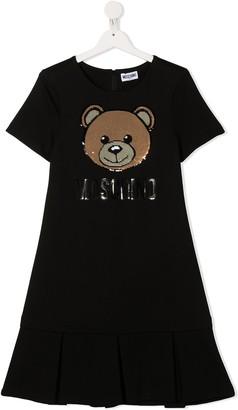 MOSCHINO BAMBINO TEEN sequin-embellished Teddy dress