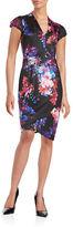 Betsey Johnson Floral Midi Sheath Dress