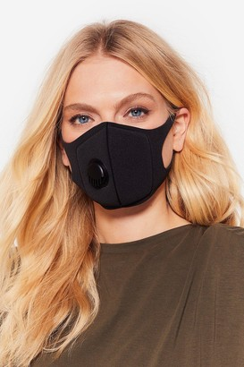 Nasty Gal Womens Neoprene It Coming Fashion Face Mask - Black - One Size
