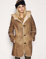 ASOS Premium Shearling Duffle Coat