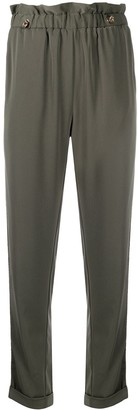 Liu Jo Crystal-Embellished Slim-Fit Trousers