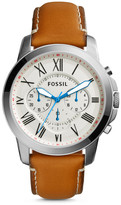 Fossil Grant Chronograph Tan Leather Watch