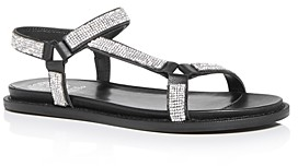Vince Camuto Women's Arabelem Crystal Embellished Flat Sandals