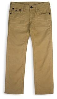 True Religion Boys' Geno Relaxed Straight Twill Pants - Little Kid, Big Kid