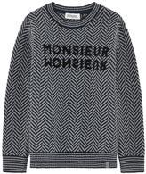 Jean Bourget Herringbone woollen sweater