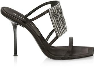 Alexander Wang Julie Crystal-Embellished Stiletto Mules