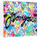 """PTM Images I Love You Mounted Giclee Print - 20\"""" x 20\"""""""