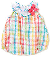 Rare Editions Baby Girls 3-24 Months Checked Seersucker Bubble Shortall