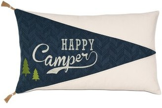 Camper Eastern Accents Bennett Happy Applique Lumbar Pillow Eastern Accents