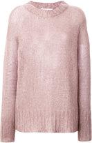 Agnona oversized textured sweater - women - Polyamide/Mohair/Wool - M