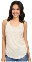 Heather Linen Shirred Side Tank Top
