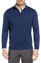 Thomas Dean Men's Merino Wool Quarter Zip Sweater