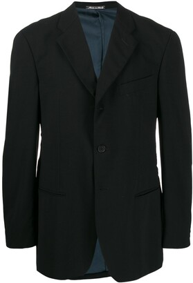 Giorgio Armani Pre-Owned 1990s Notched Lapel Slim-Fit Blazer