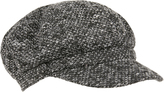 Accessorize Mono Woven Baker Boy Hat